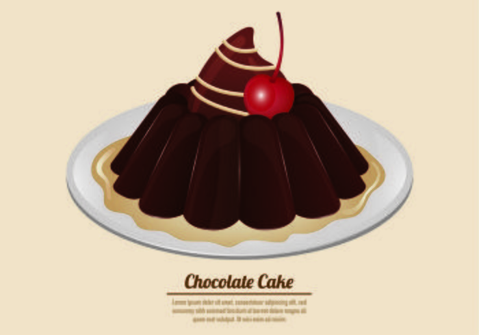 Vector Of Chocolate Cake