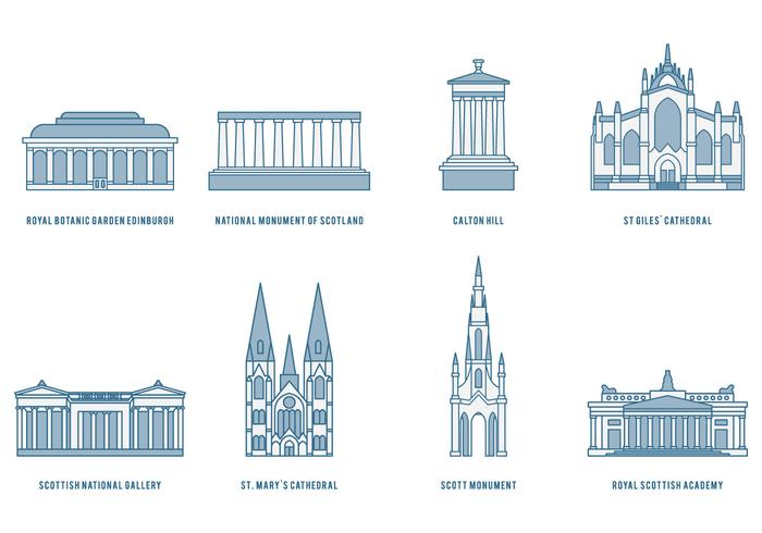 Edinburgh Landmarks vector