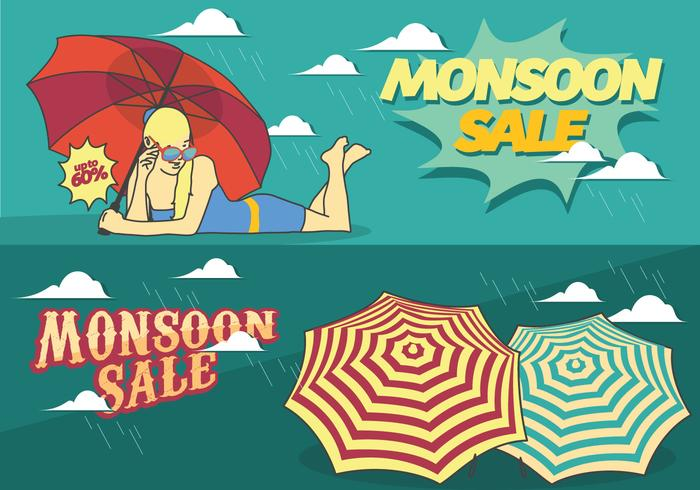 Monsoon Sale Season Poster