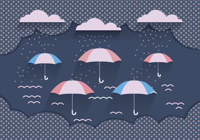 Monsoon Background Dark Blue Vector