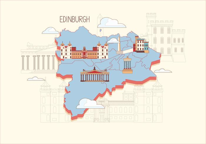 Edinburgh Map Vector Download Free Vector Art Stock Graphics Images