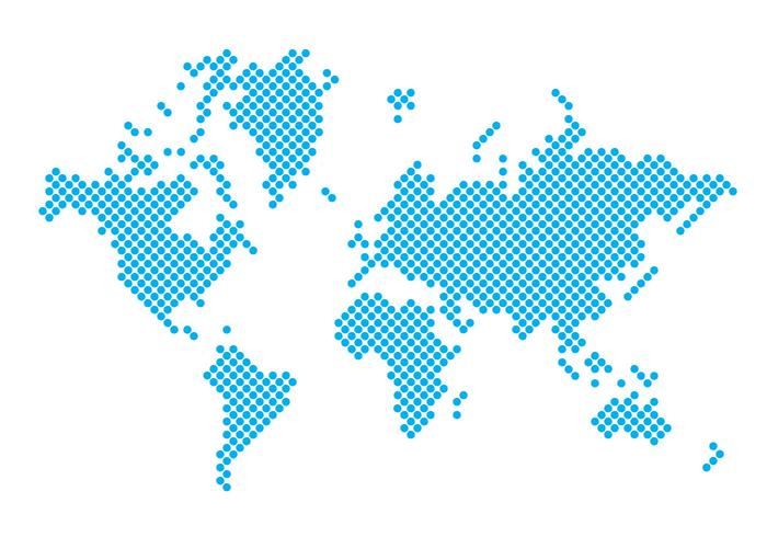 World map free vector art 5049 free downloads dotted world map gumiabroncs Gallery