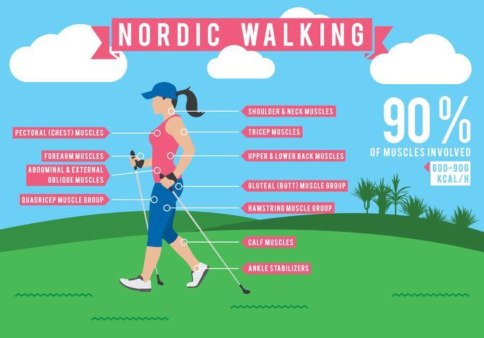 Nordic Walking Infografía de Datos