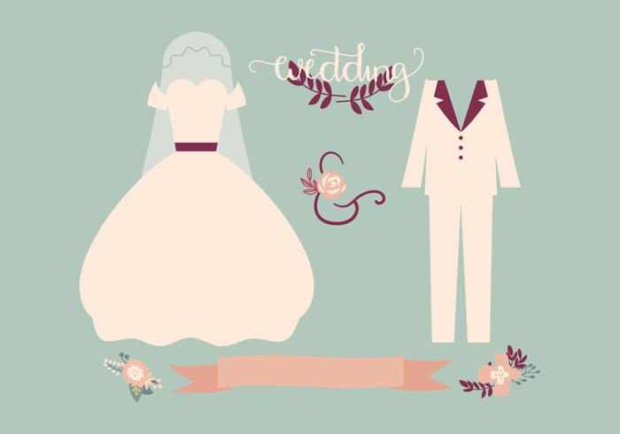 Retro Wedding Vector