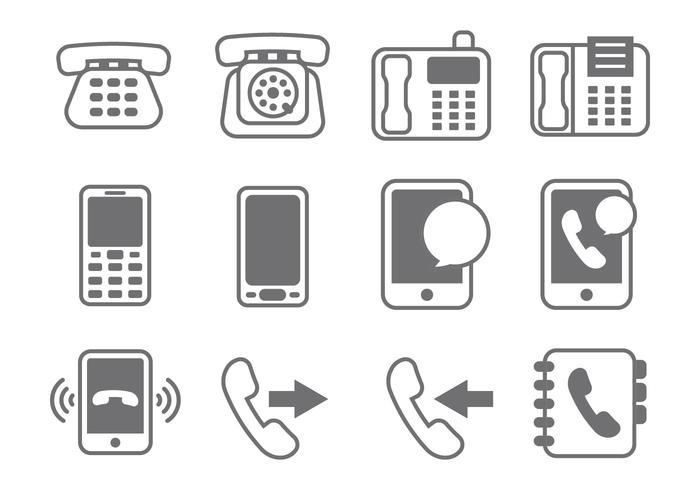 Free Telephone Element Vector