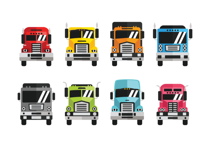 Camion Icons Vector