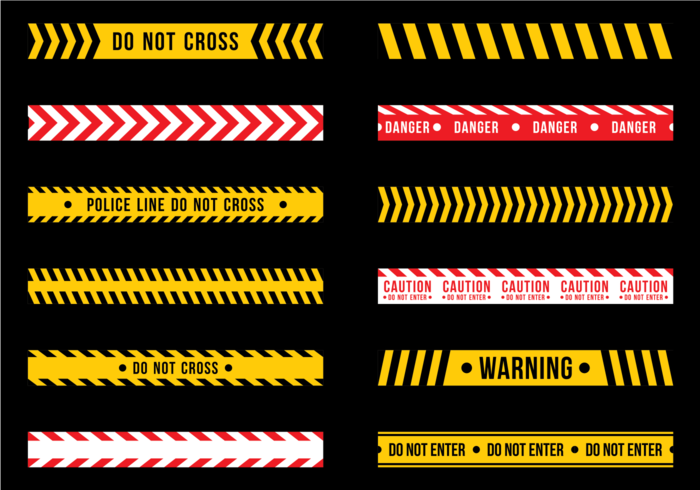 Gratis Vector Danger Tape