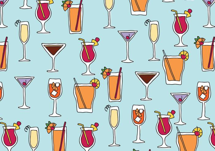 Drinks Pattern vector