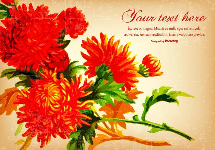 Fundo bonito da flor Vintage Red
