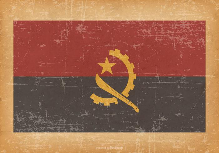 Flag of Angola on Grunge Background vector
