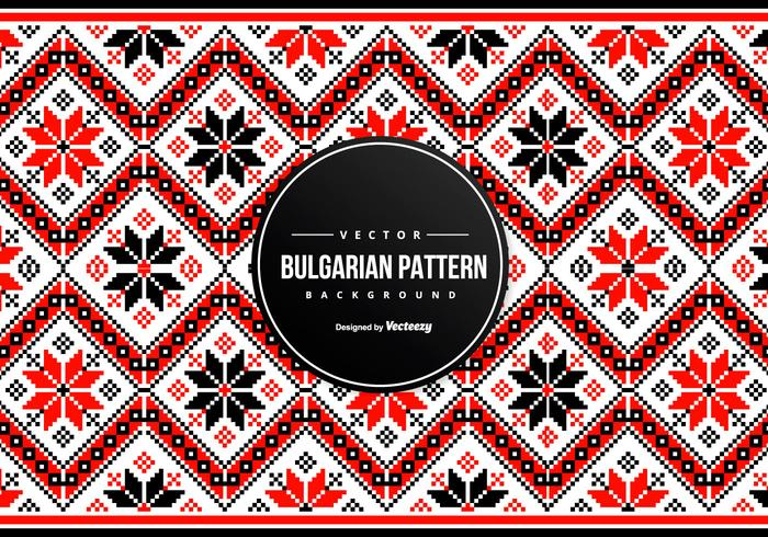 Bulgarian Embroidery Pattern Background