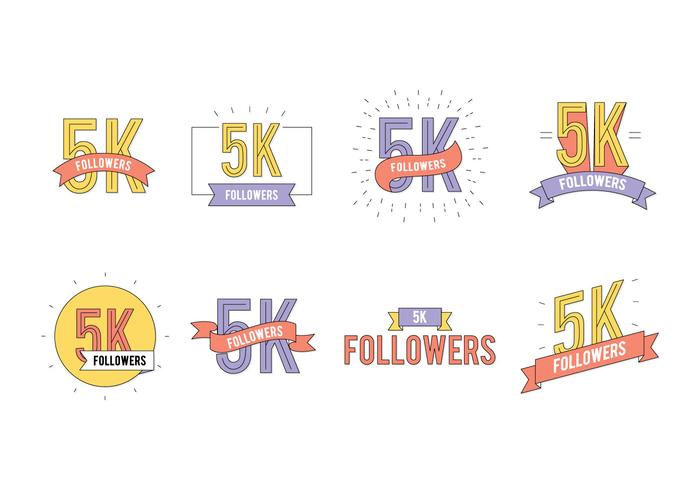 5K Followers Vector