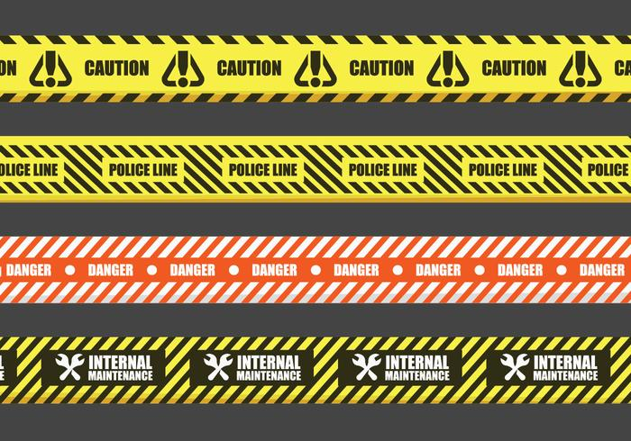 Danger Tape Vector Signs