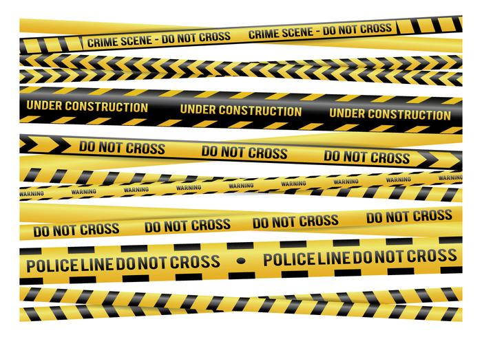 Yellow Danger Tape Vectors