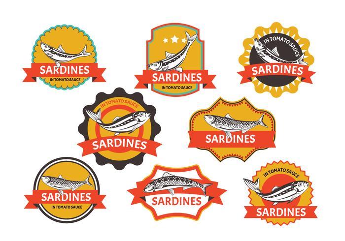 Set of Sardines label