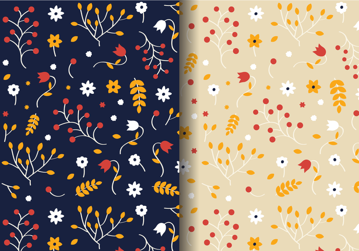 Autumn Floral Pattern