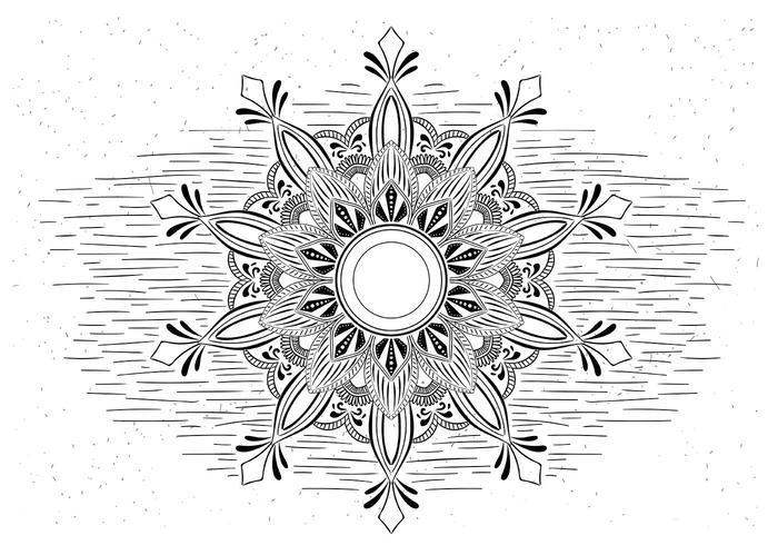 Free Vector Mandala Illustration