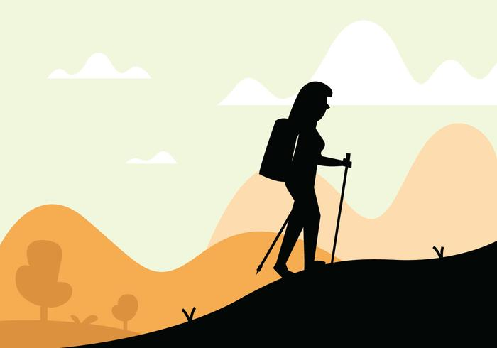 Nordic walking illustration
