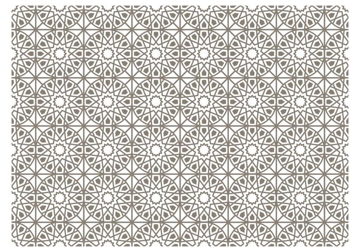 Gray Islamic Vector Pattern