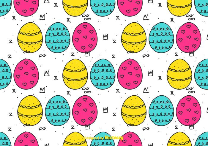 Doodle Easter Eggs Pattern
