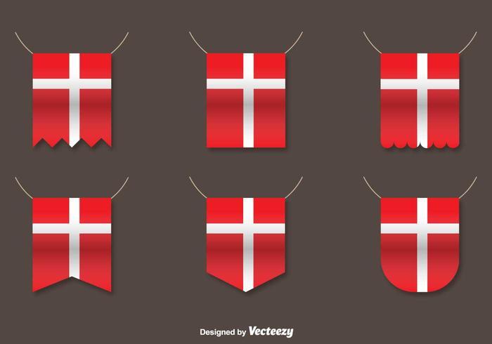 Vector Set Of Danish Flags
