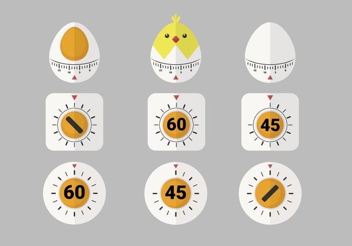 Cute Egg Timer Vector Item Pack