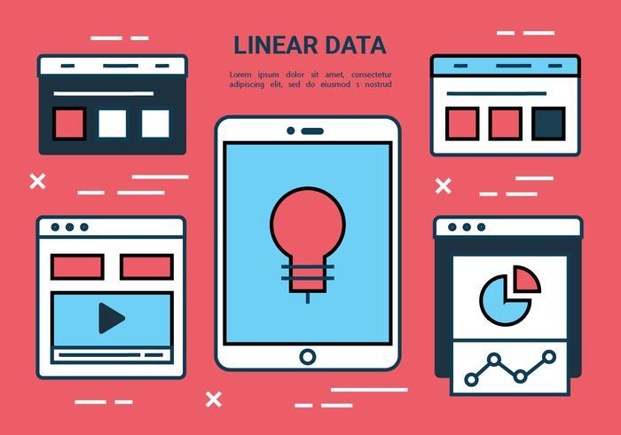 Plano Free Line Marketing de Elementos Vector