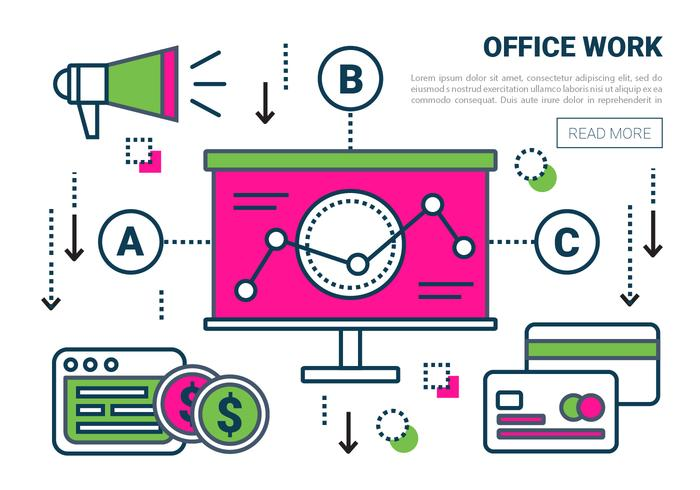 Free Linear Office Work Vector Elements