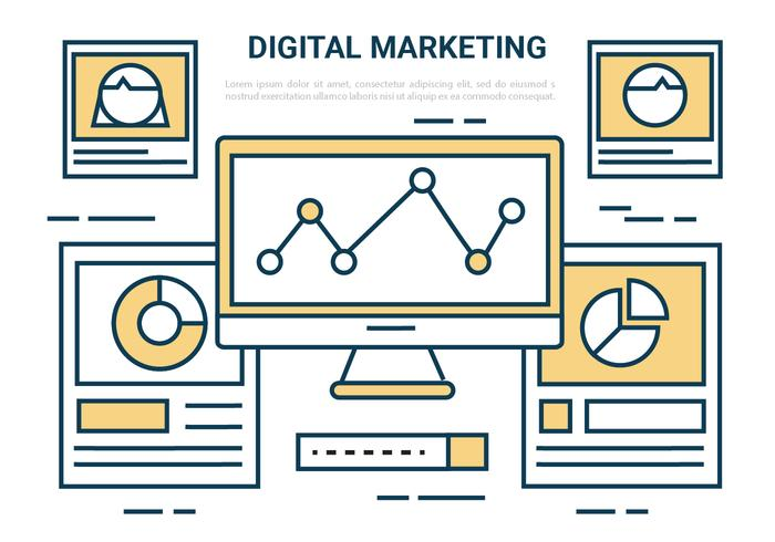 Vector Elements Digital Marketing gratuit