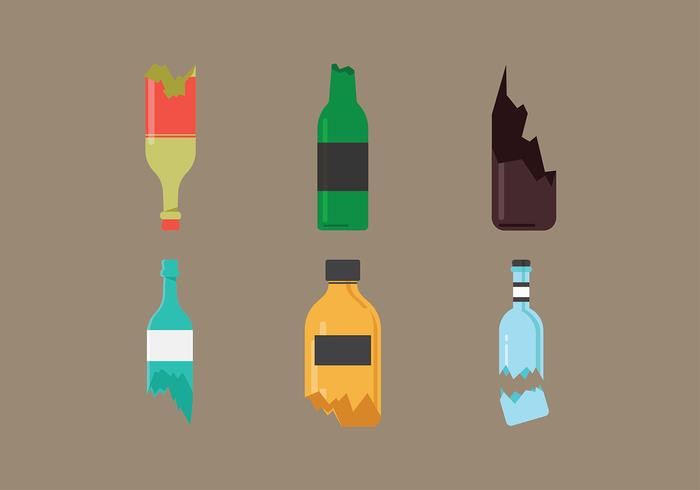 Broken Bottle Gratis Vector
