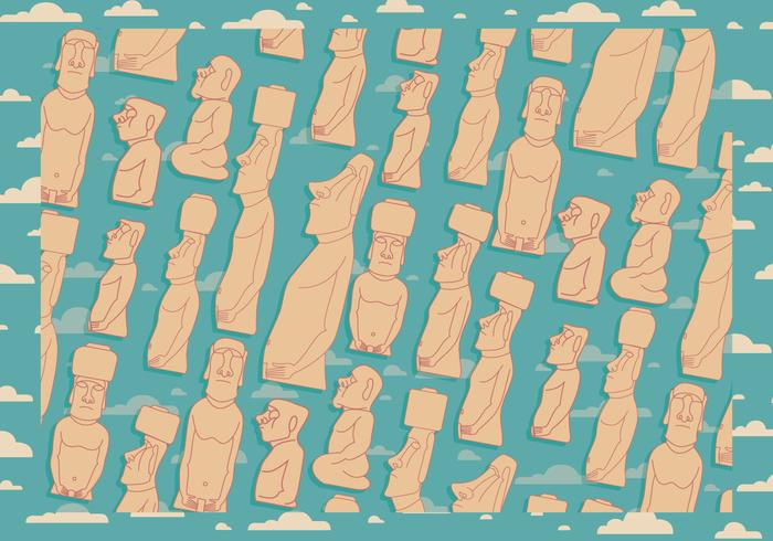 Easter Island Background Vector