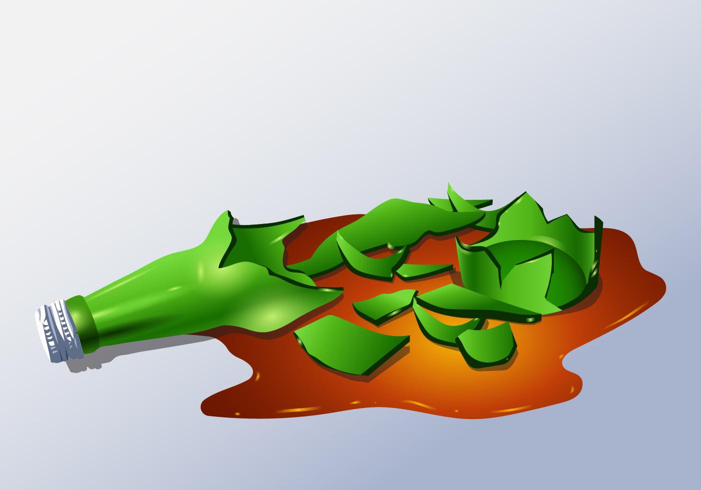 Broken Bottle Free Vector Art 3026 Free Downloads