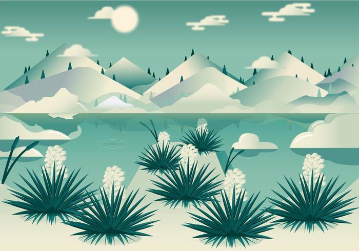 Yucca van de woestijn Landschap Vector
