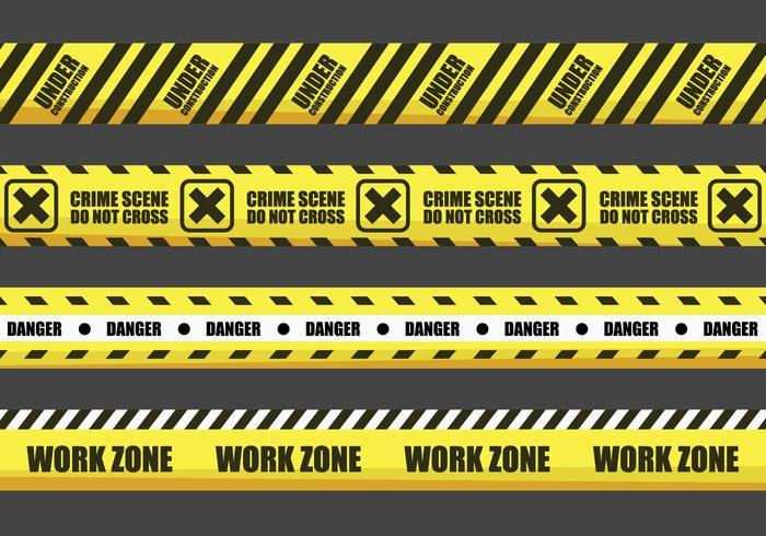 Yellow Warning Tape Vectors
