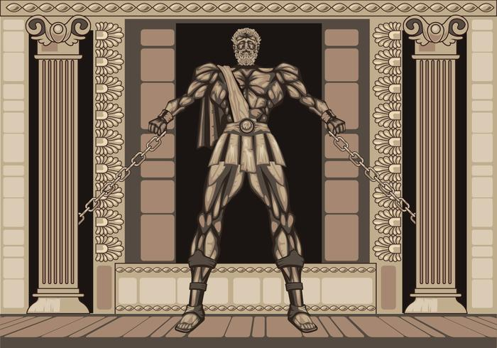 Statue Le légendaire d'Hercule vecteur