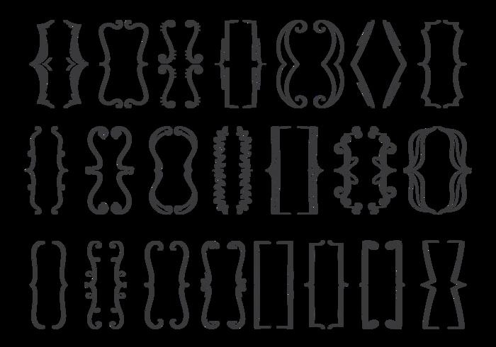 Conjunto de ícones do suporte