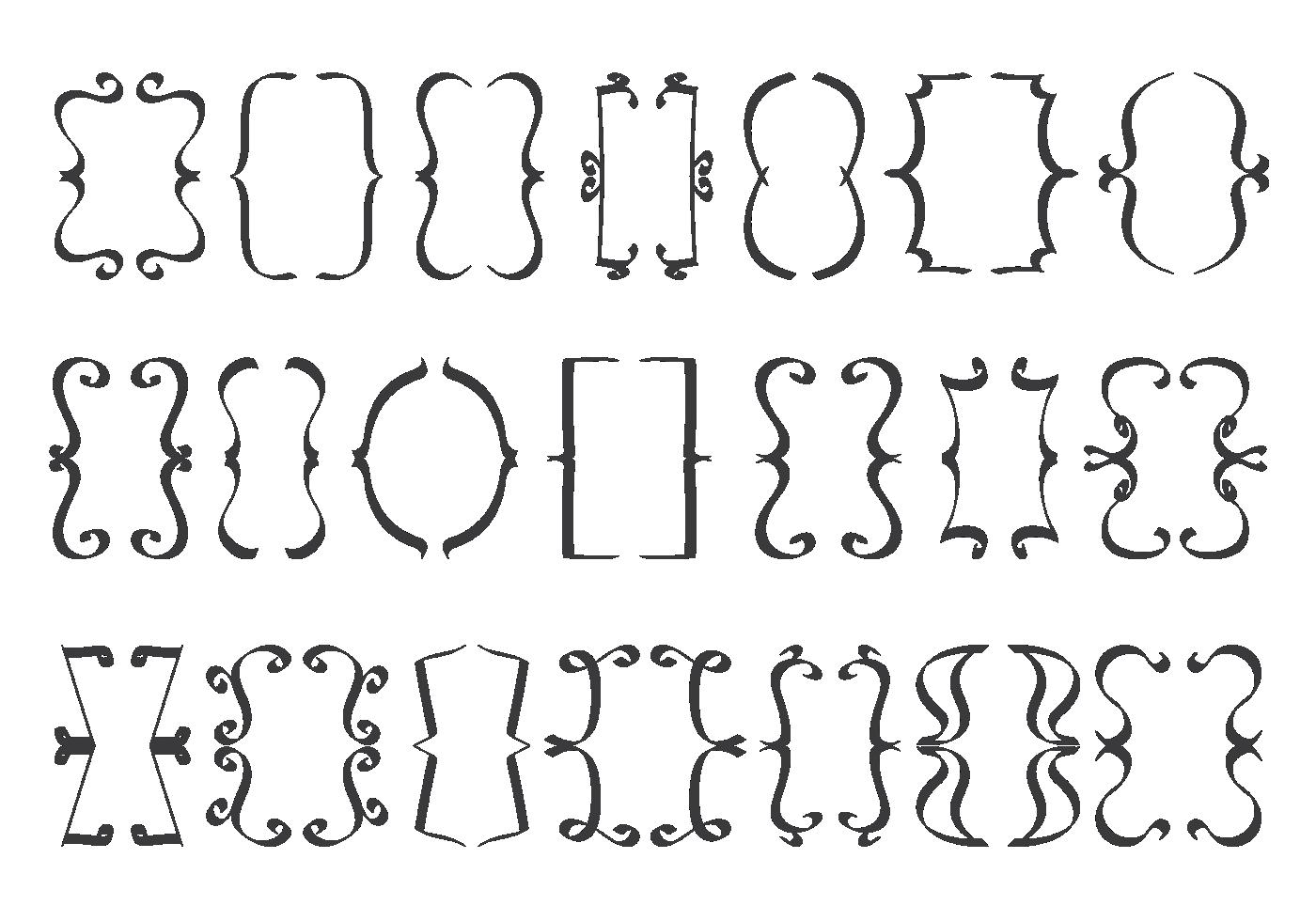 Brackets Free Vector Art - (8,654 Free Downloads)