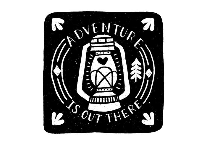 Adventure Lantern Badge Vector
