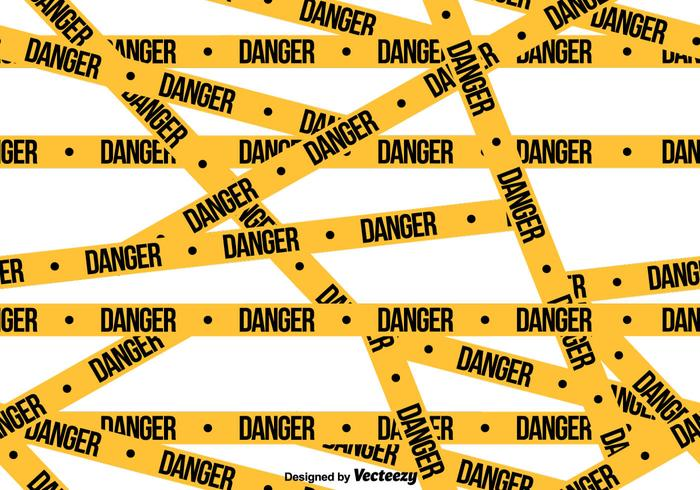 Vector Danger Tape SEAMLESS Pattern