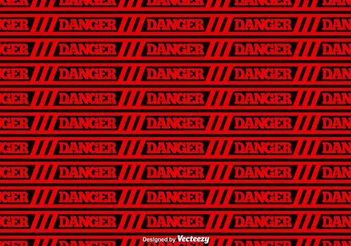 Vector Red Danger fita fundo sem emenda