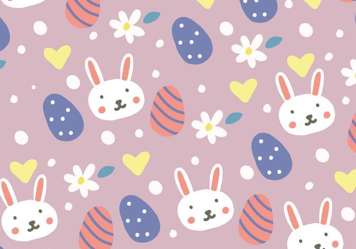 Doodled Easter Background