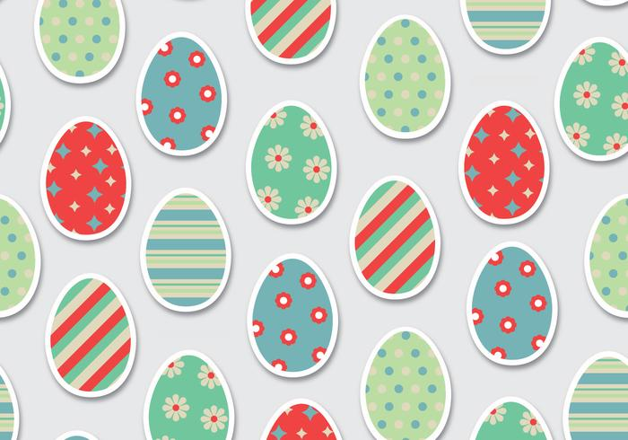 Ovos de Páscoa Vector Pattern