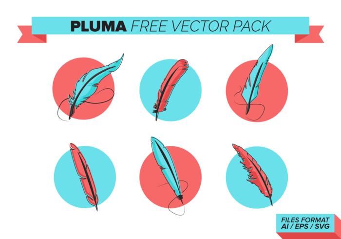 Pluma paquete de vectores libres