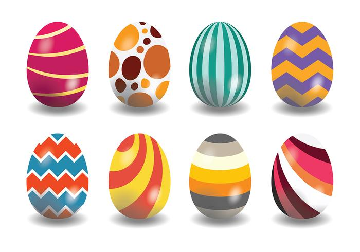 Decorative Easter Egg Icons Vector