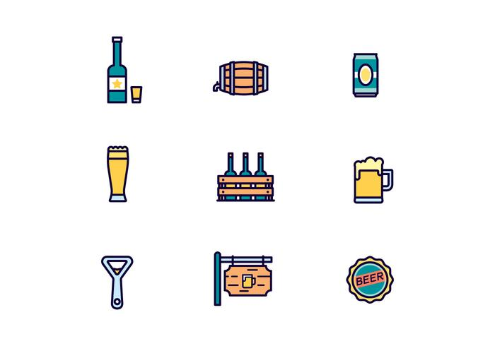 Pacote de Vector Beer Icons