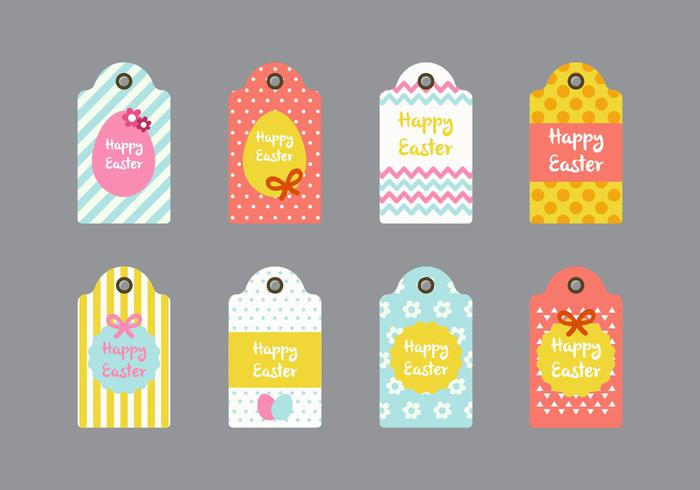 Easter Gift Tag Vector Collections