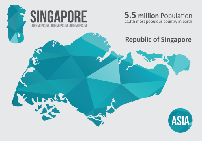 Singapore Map Infographic Download Free Vector Art Stock - Singapore map vector