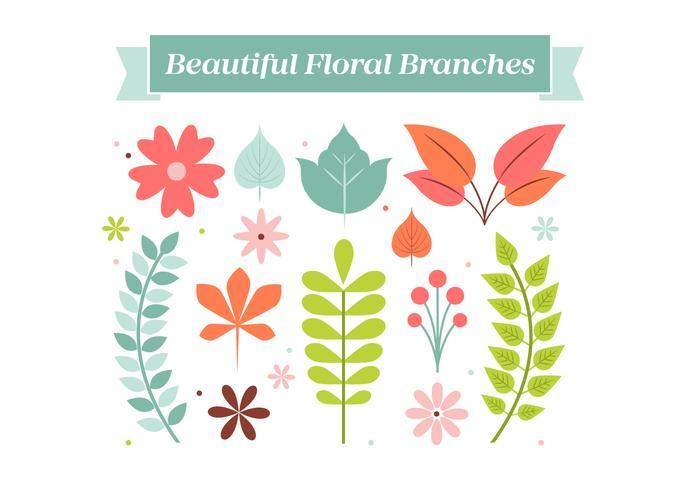 Fondo de la guirnalda de flores Elementos de la vendimia libre