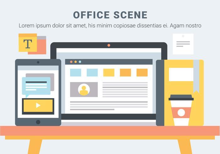 Free Office Desk Vector Elements