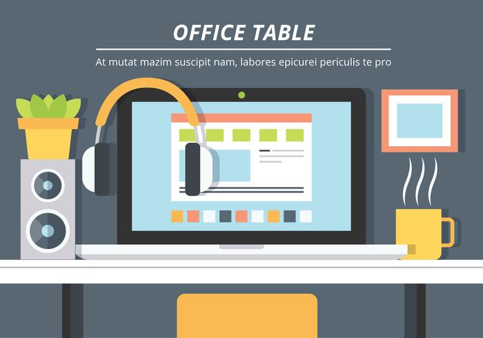 Free Office Table Vector Background
